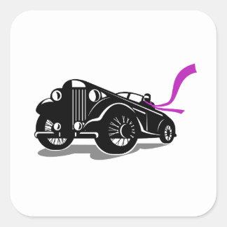 Adesivo Quadrado Lenço do Roadster do vintage retro