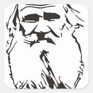 Adesivo Quadrado Léon Tolstói