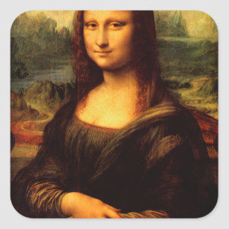 Adesivo Quadrado LEONARDO DA VINCI - Mona Lisa, La Gioconda 1503