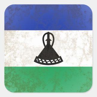 Adesivo Quadrado Lesotho