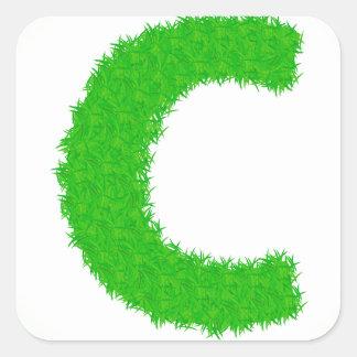 Adesivo Quadrado letra da grama