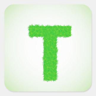 Adesivo Quadrado letra verde