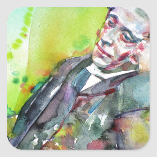 Adesivo Quadrado LEWIS CARROLL - aguarela portrait.2