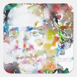 Adesivo Quadrado LEWIS CARROLL - aguarela portrait.3