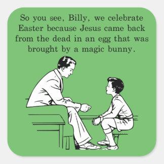 Adesivo Quadrado Lição da páscoa de Billy