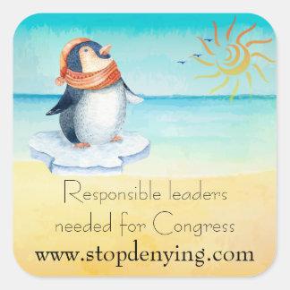 Adesivo Quadrado Líderes responsáveis necessários para o congresso