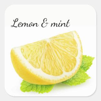 Adesivo Quadrado Limão & hortelã