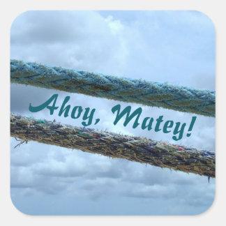 Adesivo Quadrado Linhas de amarração Ahoy amigas