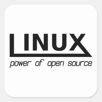Adesivo Quadrado Linux