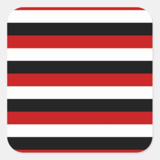 Adesivo Quadrado Listras da bandeira de Trinidad and Tobago Yemen