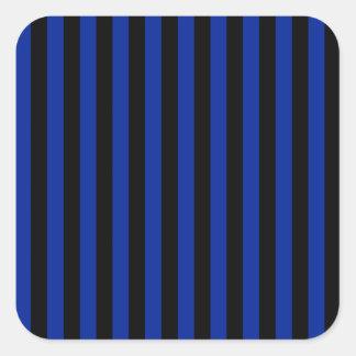 Adesivo Quadrado Listras finas - pretas e azul imperial