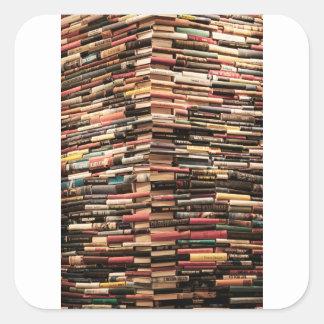 Adesivo Quadrado Livros