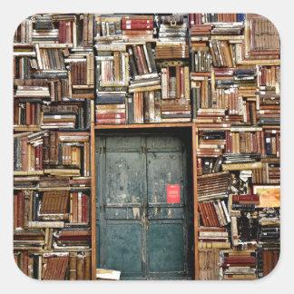 Adesivo Quadrado Livros e livros