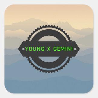 Adesivo Quadrado Logotipo #1 de YXG