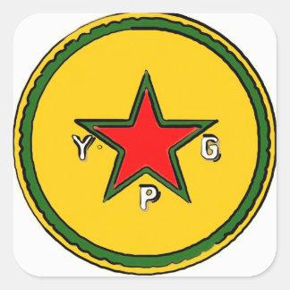 Adesivo Quadrado logotipo 2 do ypg