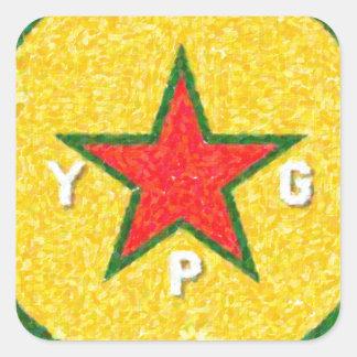 Adesivo Quadrado logotipo 3 do ypg