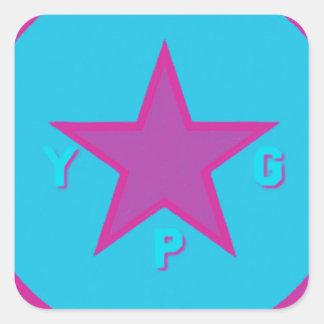 Adesivo Quadrado logotipo 6 do ypg