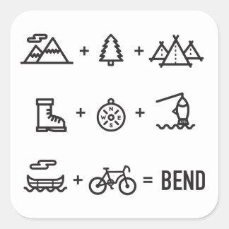 Adesivo Quadrado Logotipo da equação das atividades de Oregon da