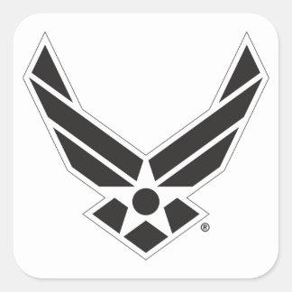 Adesivo Quadrado Logotipo da força aérea de Estados Unidos - preto