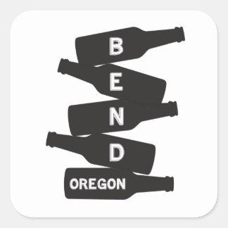 Adesivo Quadrado Logotipo da pilha da garrafa de cerveja de Oregon