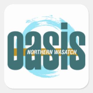 Adesivo Quadrado Logotipo do norte dos oásis de Wasatch