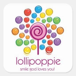 Adesivo Quadrado Lollipoppie - amores do deus do sorriso você!