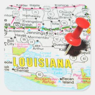 Adesivo Quadrado Louisiana