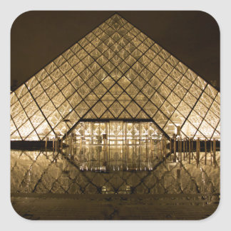 Adesivo Quadrado Louvre, Paris/France