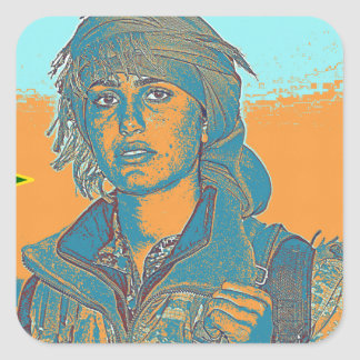 Adesivo Quadrado Lutador curdo 6 de YPJ