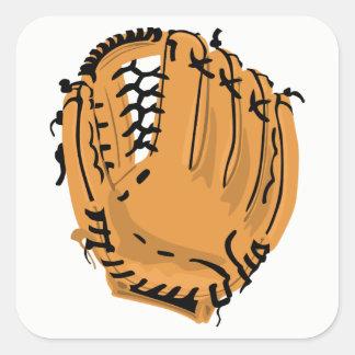 Adesivo Quadrado Luva de basebol