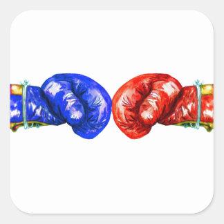 Adesivo Quadrado Luvas de encaixotamento