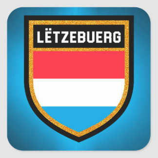 Adesivo Quadrado Luxembourg embandeira