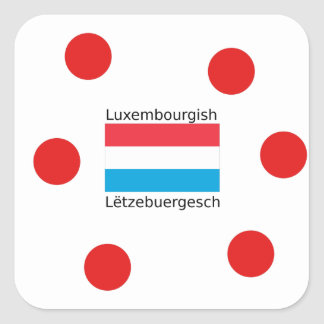 Adesivo Quadrado Luxembourg embandeira e design luxemburguês da