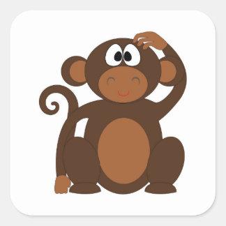 Adesivo Quadrado Macaco