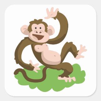 Adesivo Quadrado macaco da dança