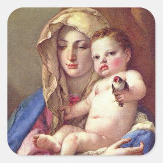 Adesivo Quadrado Madonna do Goldfinch