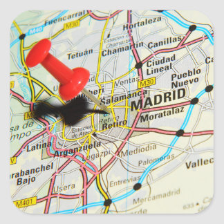 Adesivo Quadrado Madrid, espanha