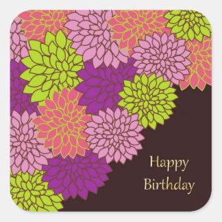 Adesivo Quadrado Mães do aniversário