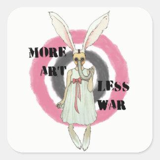Adesivo Quadrado Mais arte menos guerra