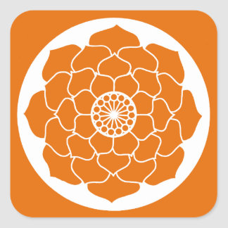 Adesivo Quadrado Mandala alaranjada de Lotus