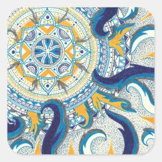 Adesivo Quadrado Mandala celestial