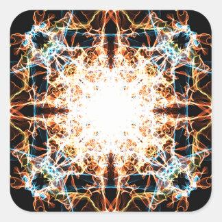 Adesivo Quadrado Mandala da iluminação
