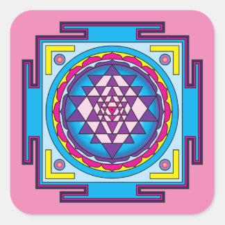 Adesivo Quadrado Mandala de Sri Yantra