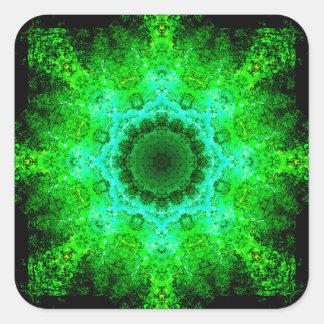 Adesivo Quadrado Mandala verde
