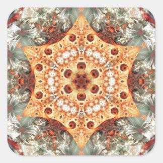 Adesivo Quadrado Mandalas do coração da liberdade 24 presentes