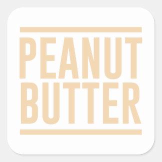Adesivo Quadrado Manteiga de amendoim