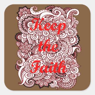 Adesivo Quadrado Mantenha a fé