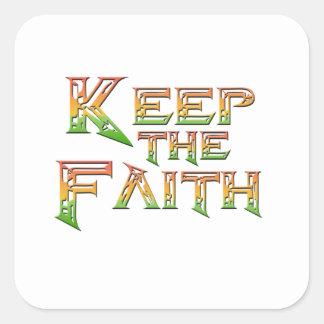 Adesivo Quadrado Mantenha a fé 2