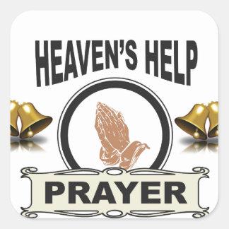 Adesivo Quadrado mãos da ajuda e da oração