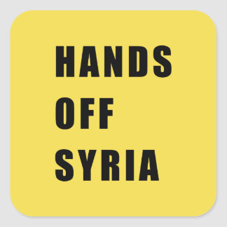 Adesivo Quadrado Mãos fora de Syria